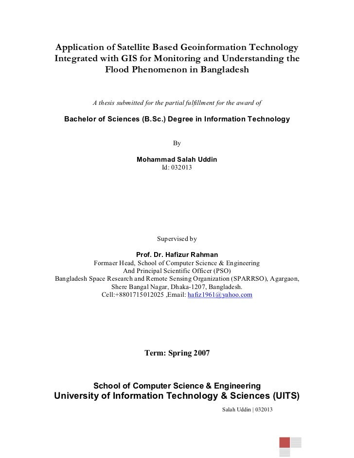 Application of Satellite Based Geoinformation TechnologyIntegrated with GIS for Monitoring and Understanding the          ...