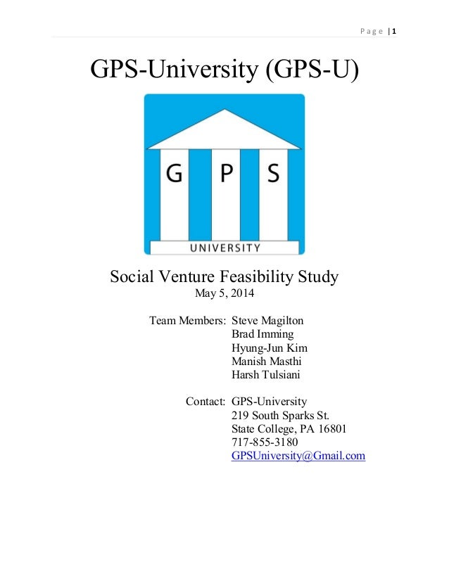 Gps business plan