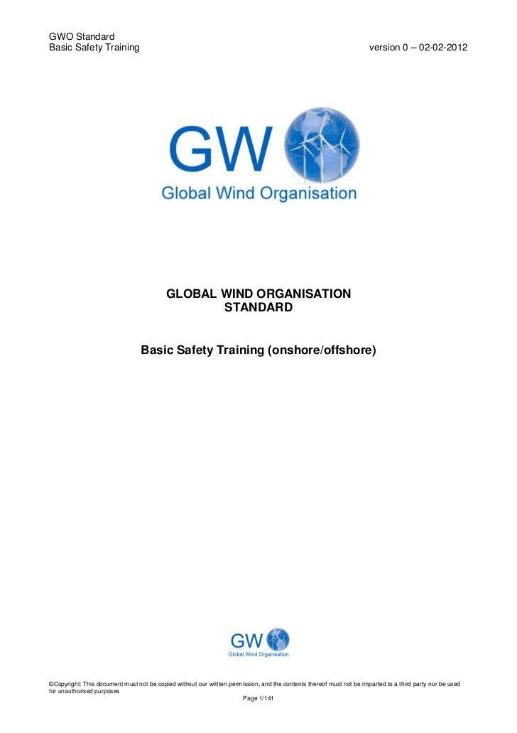 Final Gwo Bst Standard Version 0, February 2012