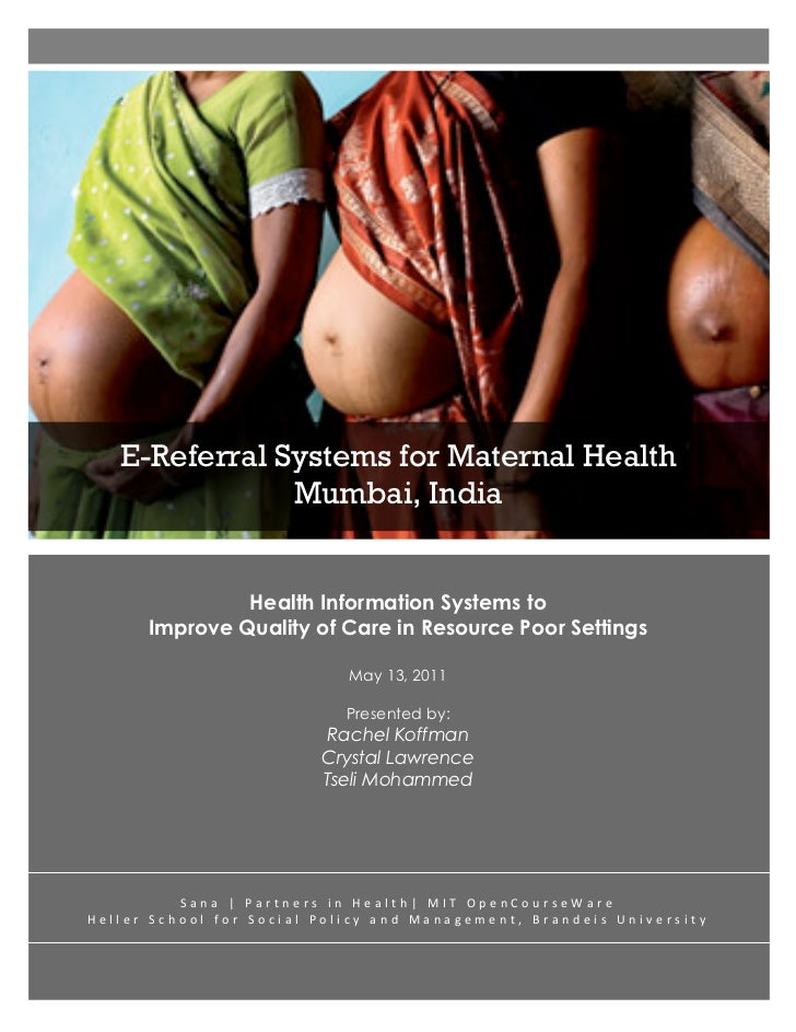 E-Referral Systems for Maternal H...