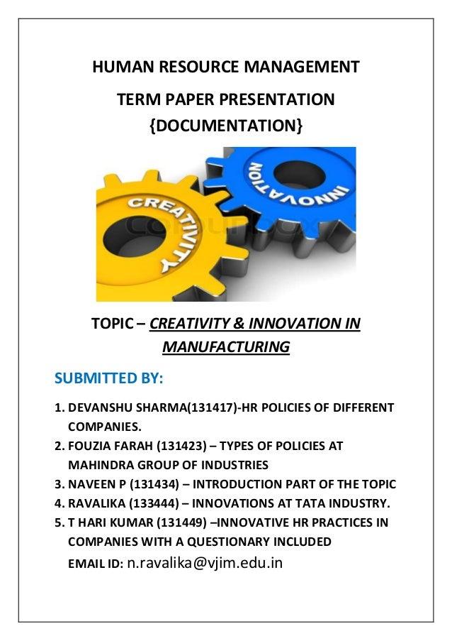 Hrm dissertation