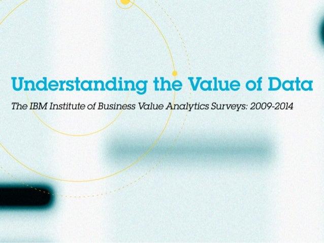 Understanding the value of data
