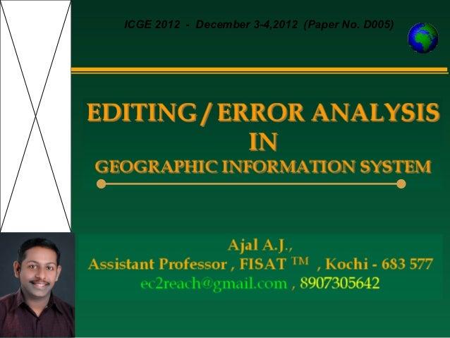 ICGE 2012 - December 3-4,2012 (Paper No. D005)