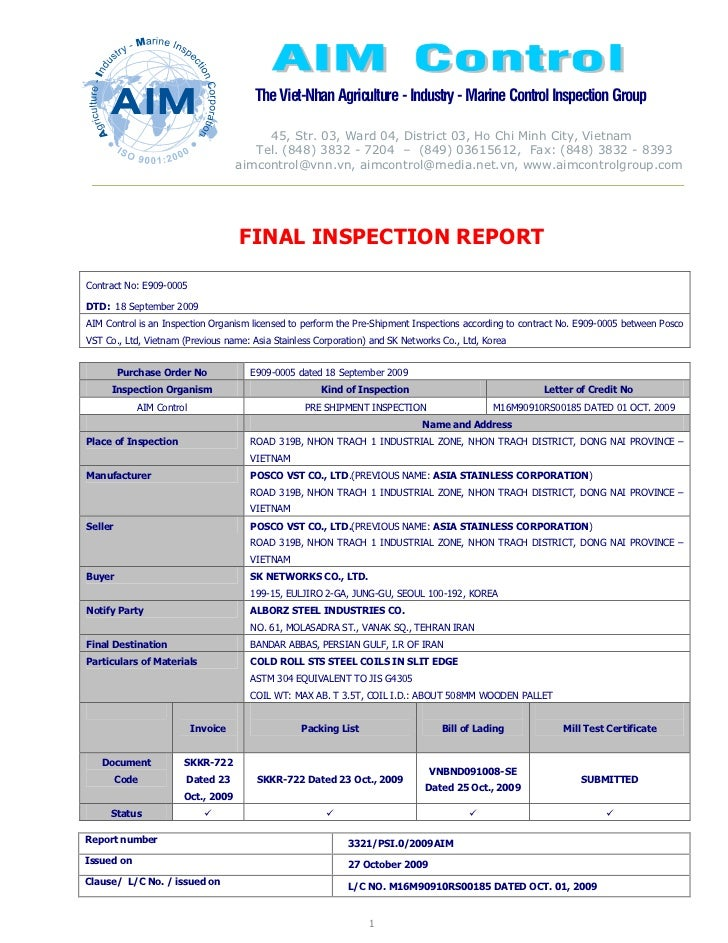 The Viet-Nhan Agriculture - Industry - Marine Control Inspection Group                                         45, Str. 03...
