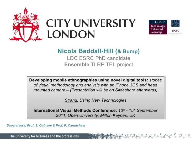 International Visual Methods Conference Sept OU 2011