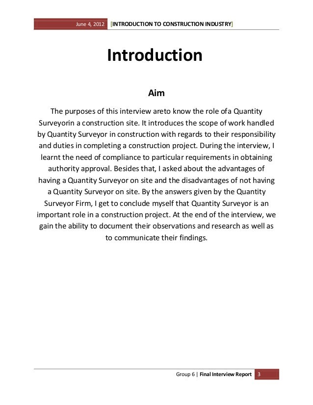 Interview Essay Sample