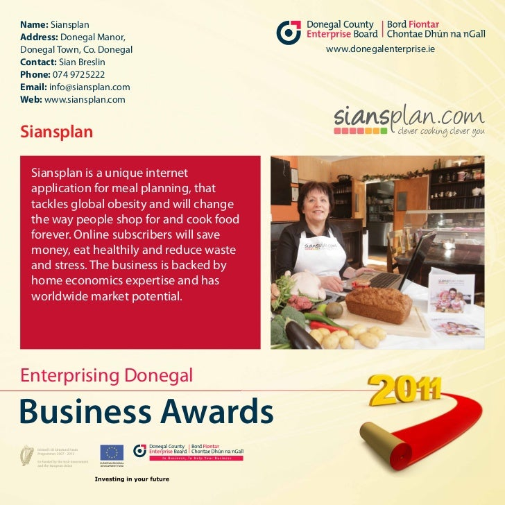 Name: SiansplanAddress: Donegal Manor,Donegal Town, Co. Donegal                  www.donegalenterprise.ieContact: Sian Bre...