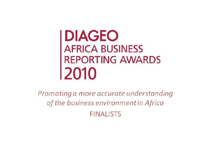 Diageo Africa Business Reporting Awards 2010 Finalists
