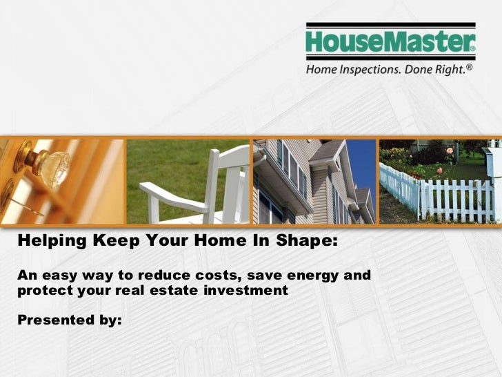 Chart Helping Keep Your Home In Shape: An easy way to reduce costs, save energy and  protect your real estate investment  ...