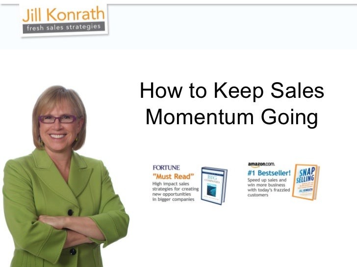 How to Keep Sales Momentum Going
