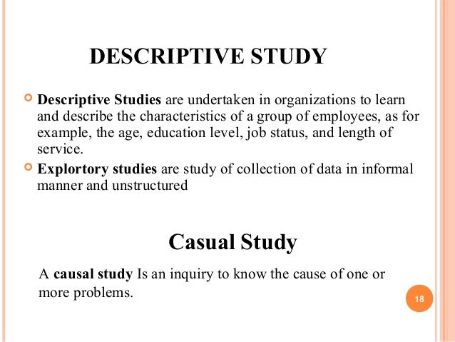 Descriptive study in research