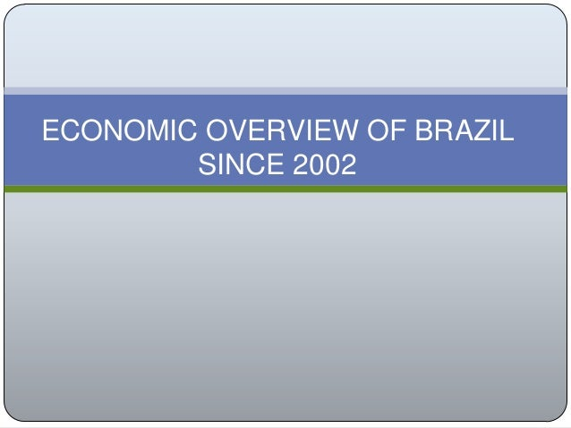economic analysis of brazil Official bureau of economic analysis website source of us economic statistics including national income and product accounts (nipas), gross domestic product (gdp) and related measures of national, regional, industry and international accounts.