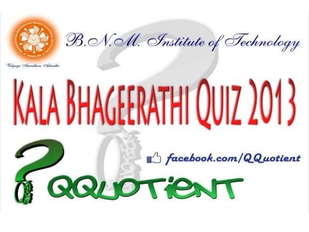 prelims kalabhageerathi quiz 2013