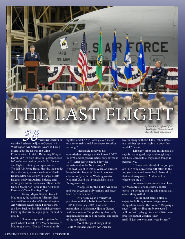 Washington Military Department Evergreen Magazine Vol. 1 Issue 2