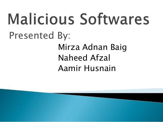 Final malacious softwares