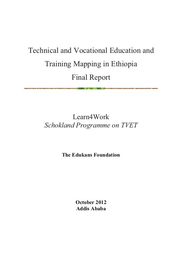 Final mapping report ethiopia 2012 TVET