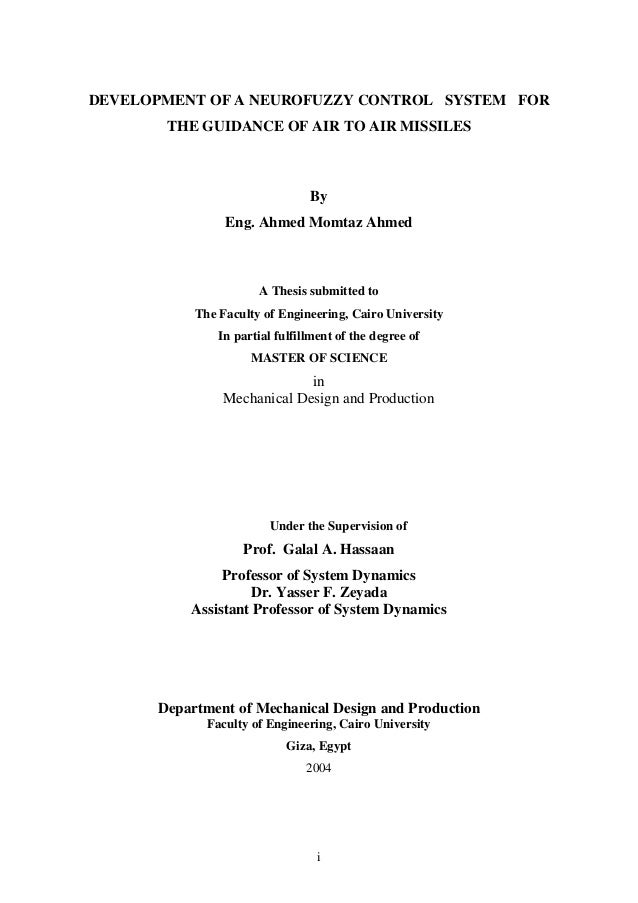 fuzzy control thesis Fuzzy control for an unmanned helicopter by thesis no 938 submitted to the school of engineering at link ping university in partial ful lment of the requiremens for degree of licentiate of engineering tryckt av unitryck 33 fuzzy gain-scheduled control.