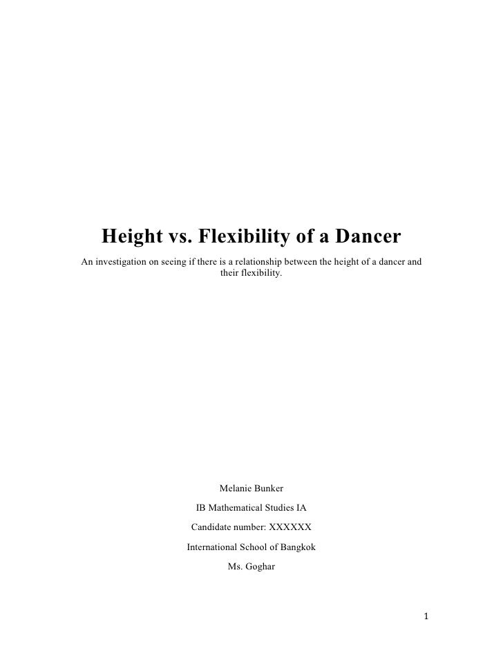 Height vs. Flexibility of a DancerAn investigation on seeing if there is a relationship between the height of a dancer and...