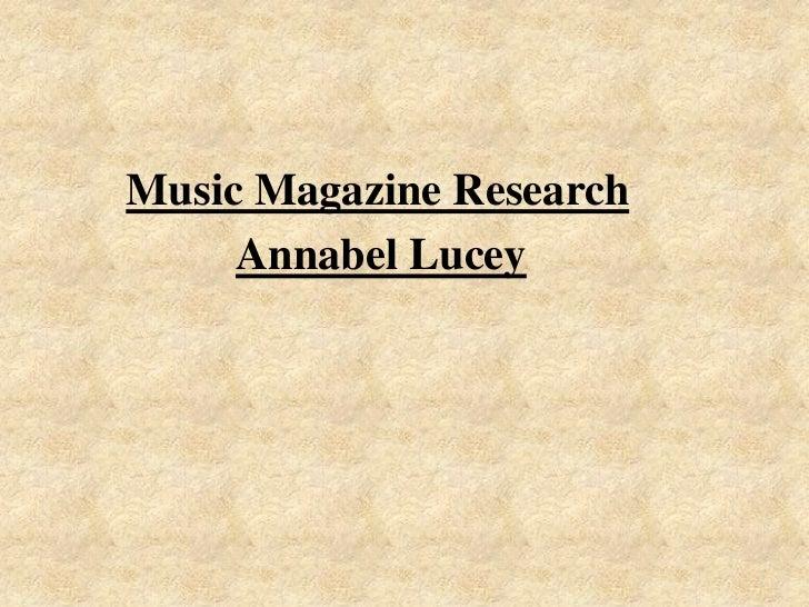 Final media music magazine annabel lucey