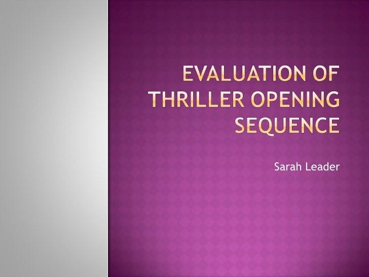 Sarah Leader