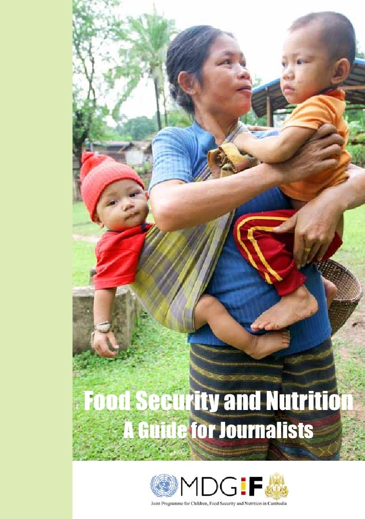 Food Security and Nutrition   A Guide for Journalists