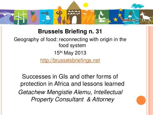 Brussels Briefing n. 31Geography of food: reconnecting with origin in thefood system15th May 2013http://brusselsbriefings....