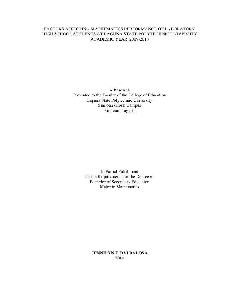 "thesis on factors affecting academic performance ""psychological factors affecting academic performance of adamson university students"" a thesis submitted to the department of language, college of liberal."