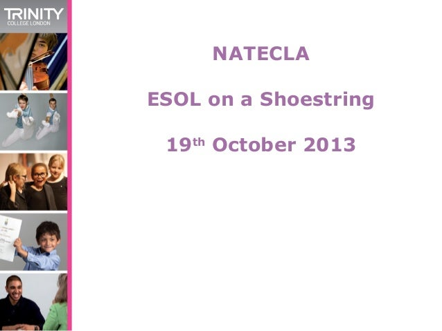 NATECLA ESOL on a Shoestring 19th October 2013
