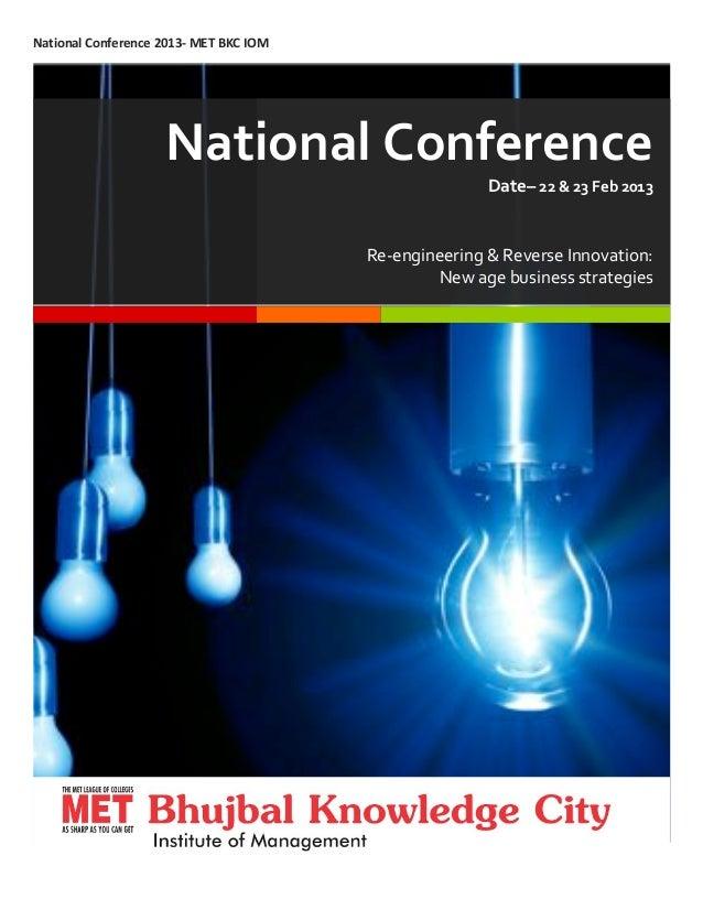 National Conference _ MET BKC IOM