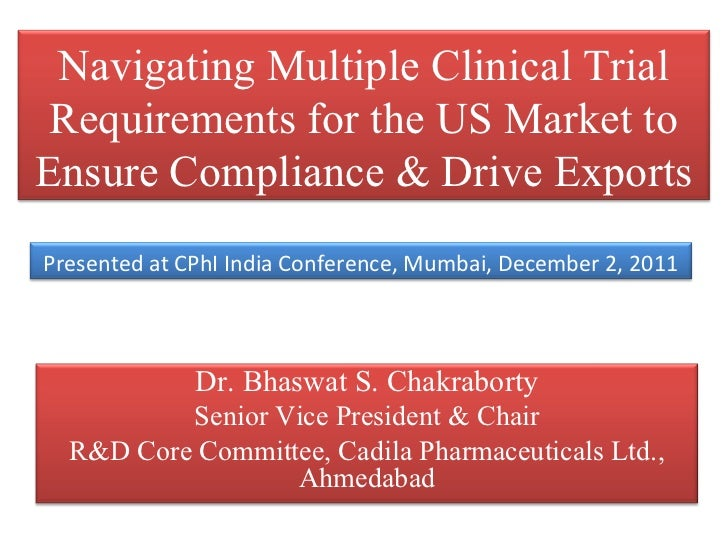 Final navigating multiple clinical trial requirements for the us