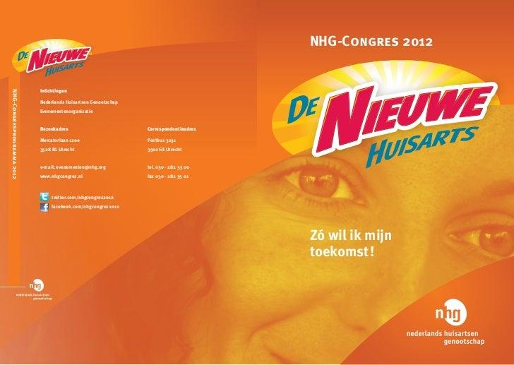 NHG Congres De Nieuwe Huisarts - programmaboekje