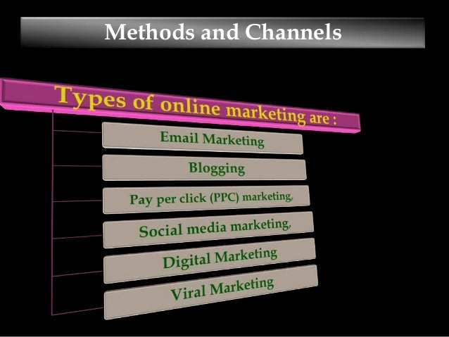types of internet marketing ppt