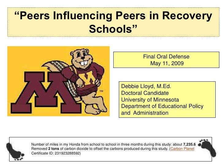 """""""Peers Influencing Peers in Recovery               Schools""""                                                               ..."""