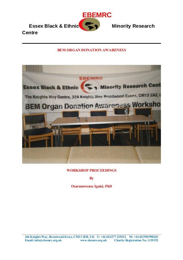 EBEMRC  Essex Black & Ethnic                                       Minority ResearchCentre                       BEM ORGAN...