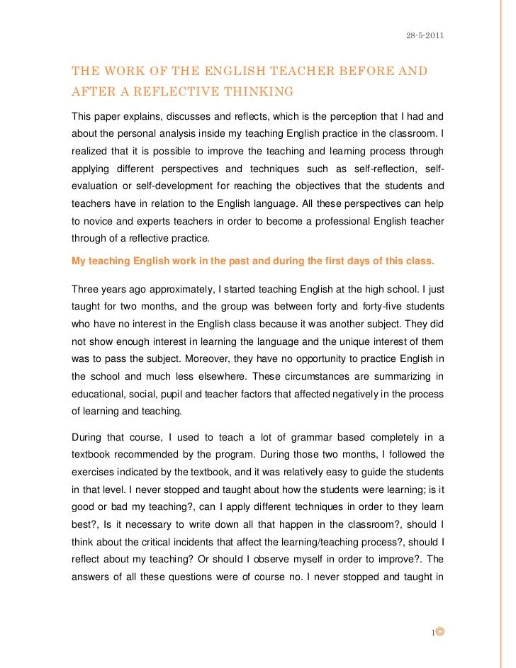 self reflective practice essay Find and save ideas about self reflection essay on pinterest | see more ideas about emoji chart sample self reflection essays self assessment and reflection paper.