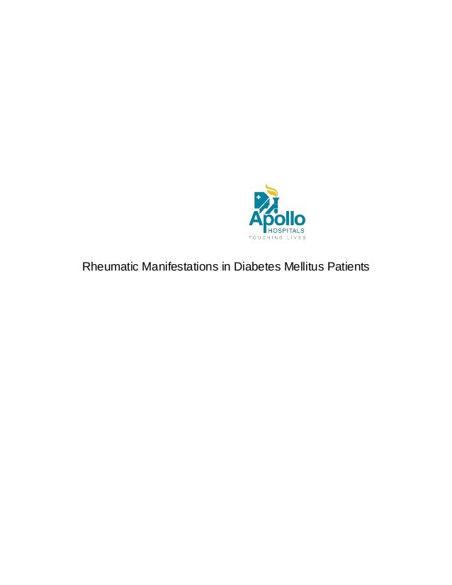 Rheumatic Manifestations in Diabetes Mellitus Patients