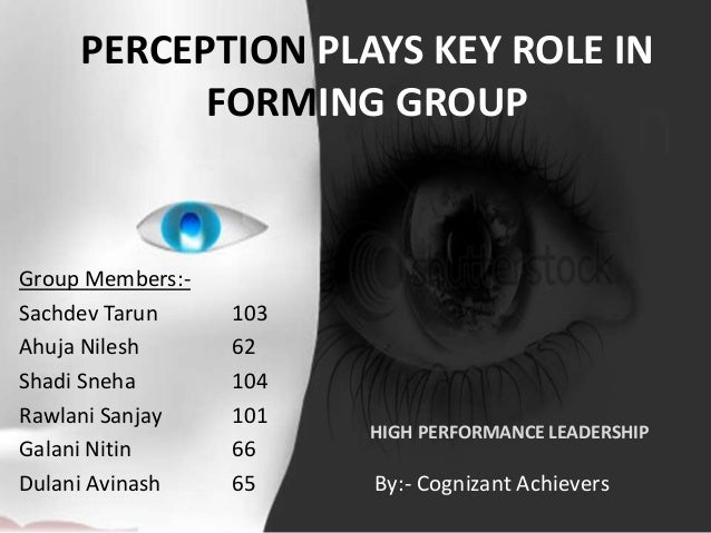PERCEPTION PLAYS KEY ROLE INFORMING GROUPGroup Members:-Sachdev Tarun 103Ahuja Nilesh 62Shadi Sneha 104Rawlani Sanjay 101G...