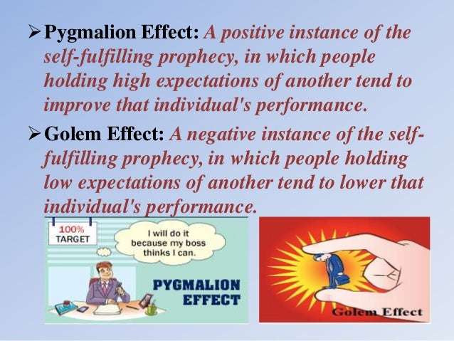 Self Fulfilling Prophecy Pygmalion Effect Homework Help