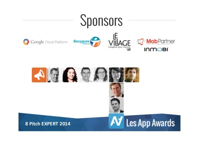 8 Pitch d'Experts sur lesappawards 2014