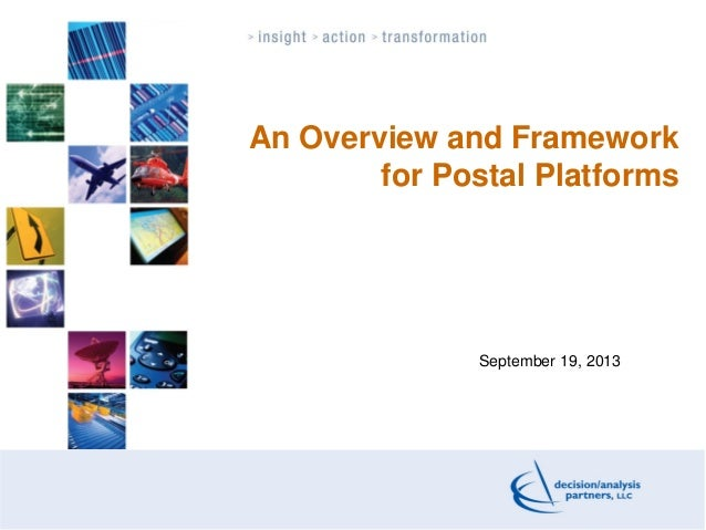 The Concept of Postal Platform and Its Applications