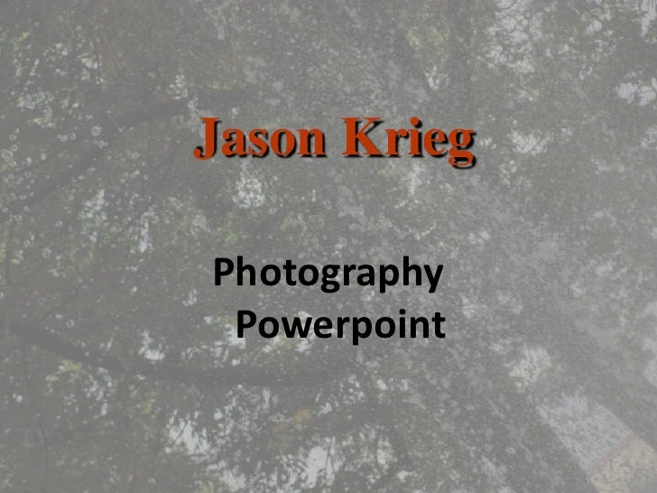 Photography Powerpoint