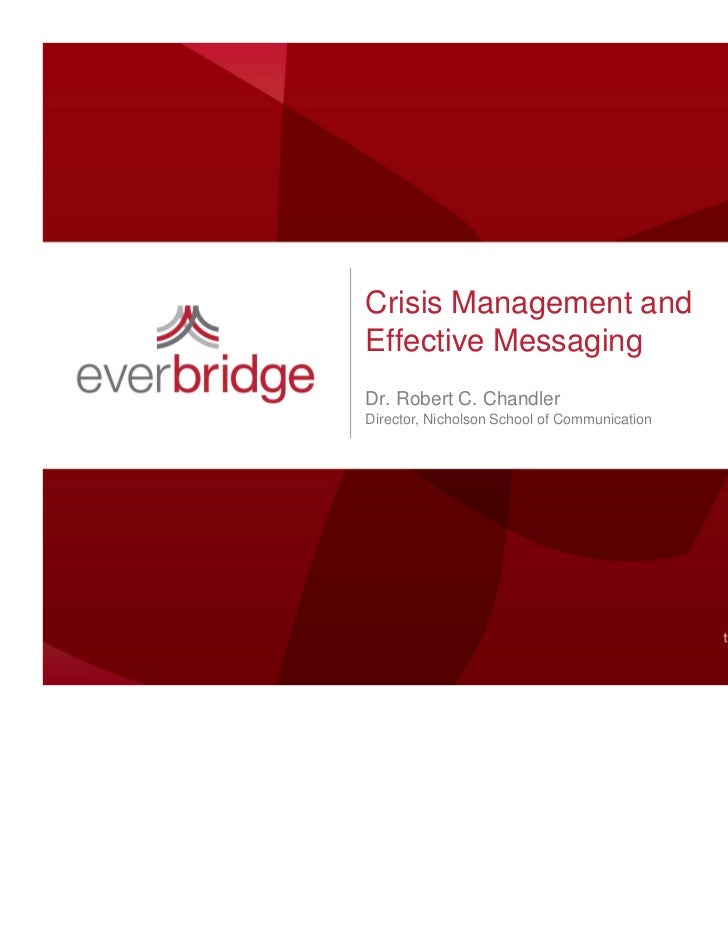 Crisis Management and Effective Messaging - New England