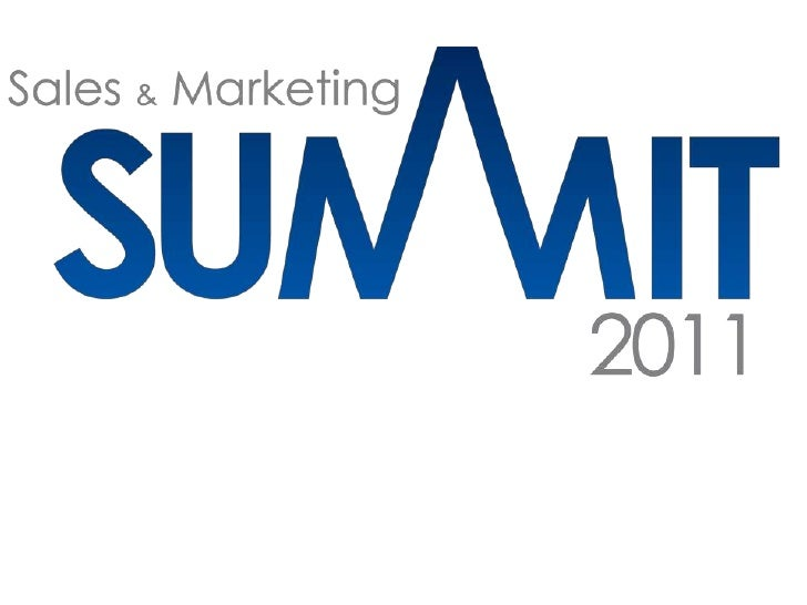 Sales & Marketing Summit, 2011