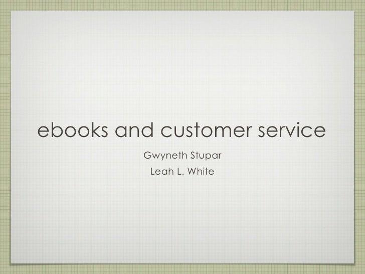 eBooks and customer service