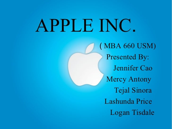 apple inc case study final Apple inc apple inc formerly apple computer, inc is an american multinational corporation that designs and markets consumer electronics, computer.