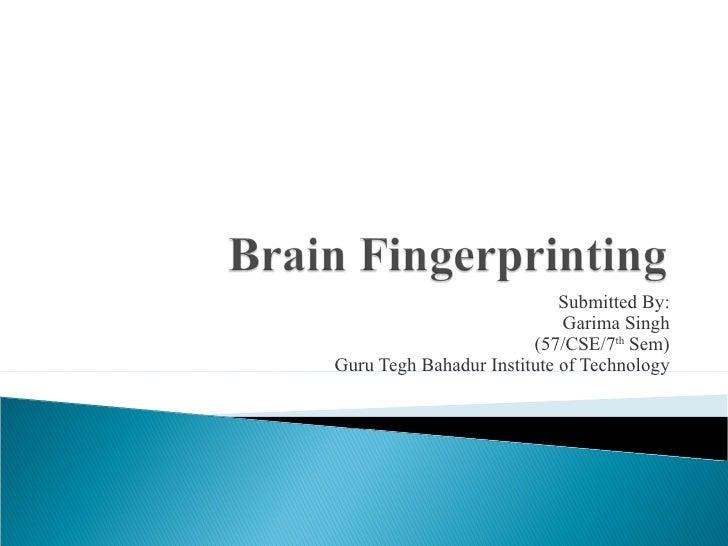 Brain Finger Printing
