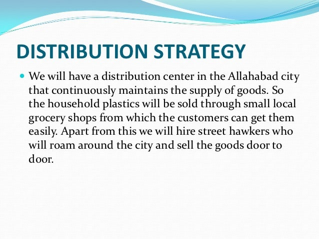 Distribution company business plan