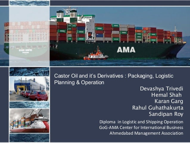 Devashya Trivedi Hemal Shah Karan Garg Rahul Guhathakurta Sandipan Roy Diploma in Logistic and Shipping Operation GoG-AMA ...