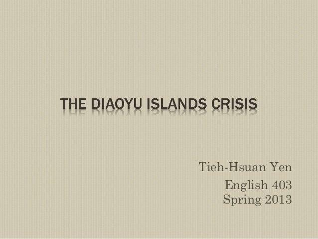 Tieh-Hsuan YenEnglish 403Spring 2013
