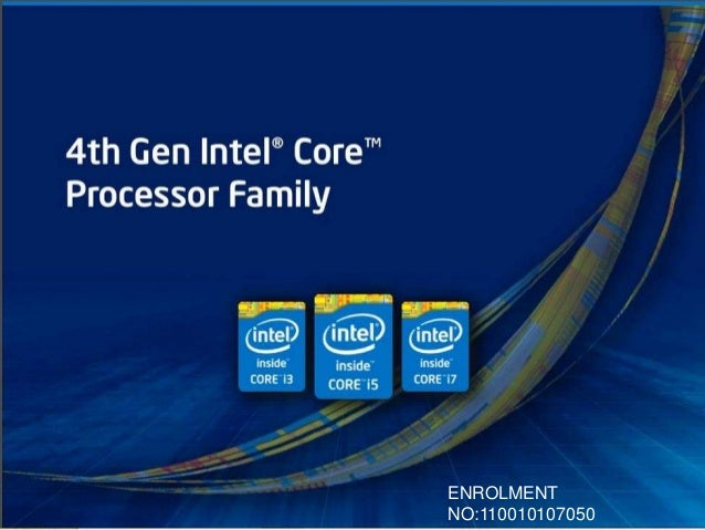Intel I3,I5,I7 Processor